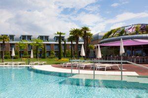 Vista della piscina dell'Hotel Corte Valier